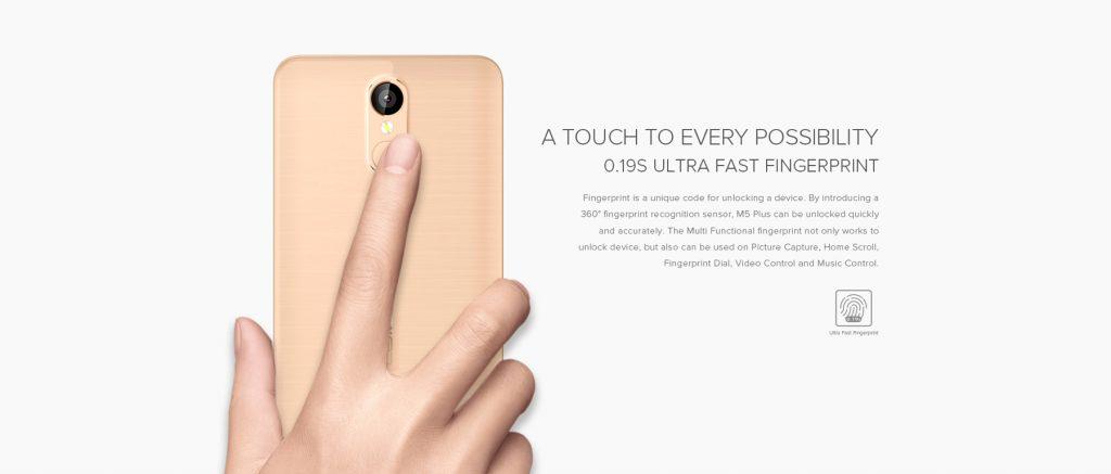 LEAGOO M5 Plus incorpora sensor de huellas