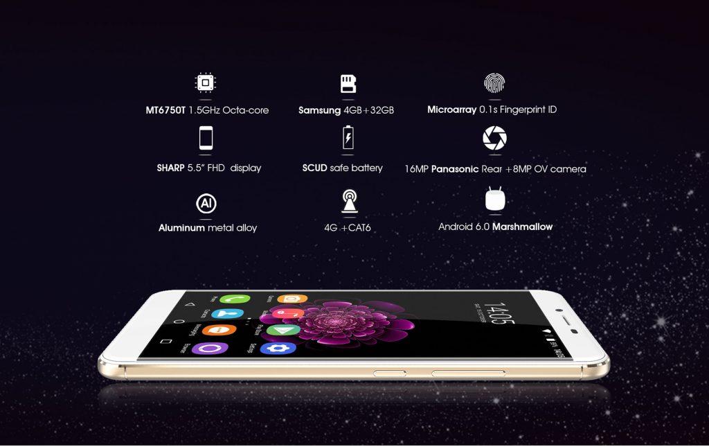 Oukitel U15S, con lector de huellas dactilares y conectividad 4G LTE