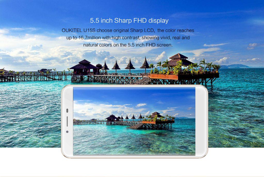 Oukitel U15S con pantalla Sharp FHD de 5,5 pulgadas