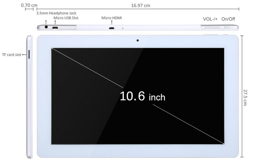 Teclast X16 Plus con salida HDMI