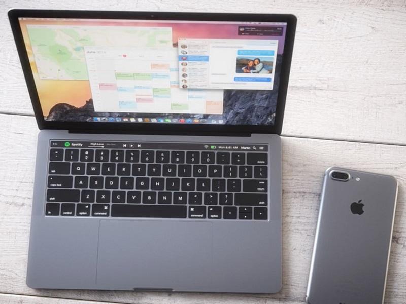 conectar el iPhone 7 al Macbook Pro