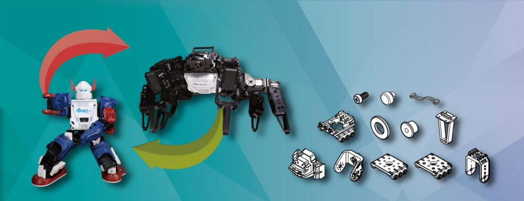 Con apenas algunos elementos adicionales, podras crear un robot totalmente distinto