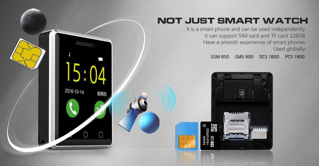 Dispone de ranura microSD y microSIM para realizar y contestar llamadas desde nuestro reloj