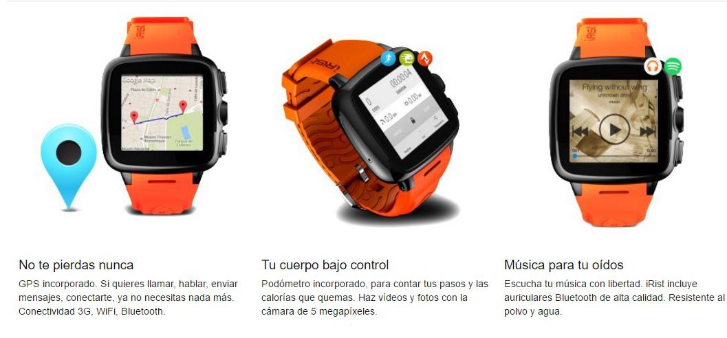 Intex IRist - WatchPhone descripción general