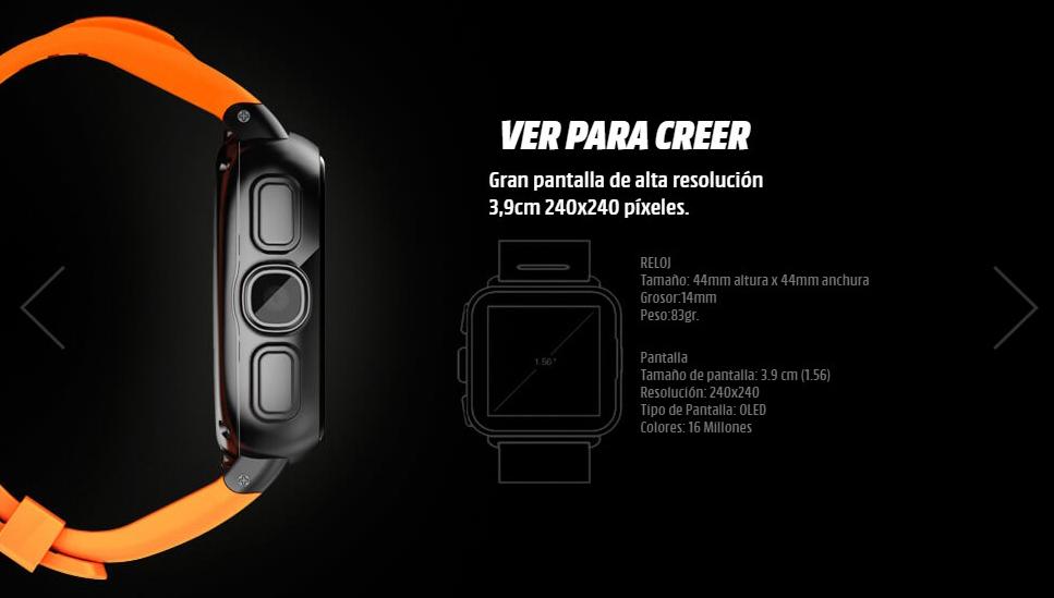 Intex IRist Watchphone especificaciones