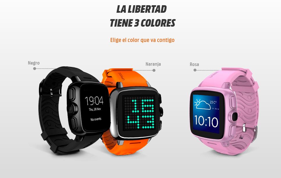 Intex IRist Watchphone presentaciones de color