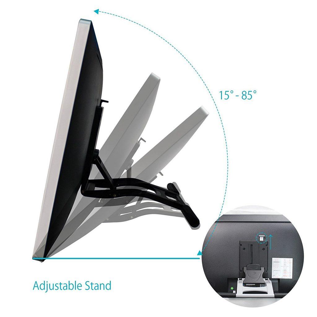 La Huion GT-220 V2 trae un soporte ajustable, que permite inclinar la pantalla entre 15 y 85 grados