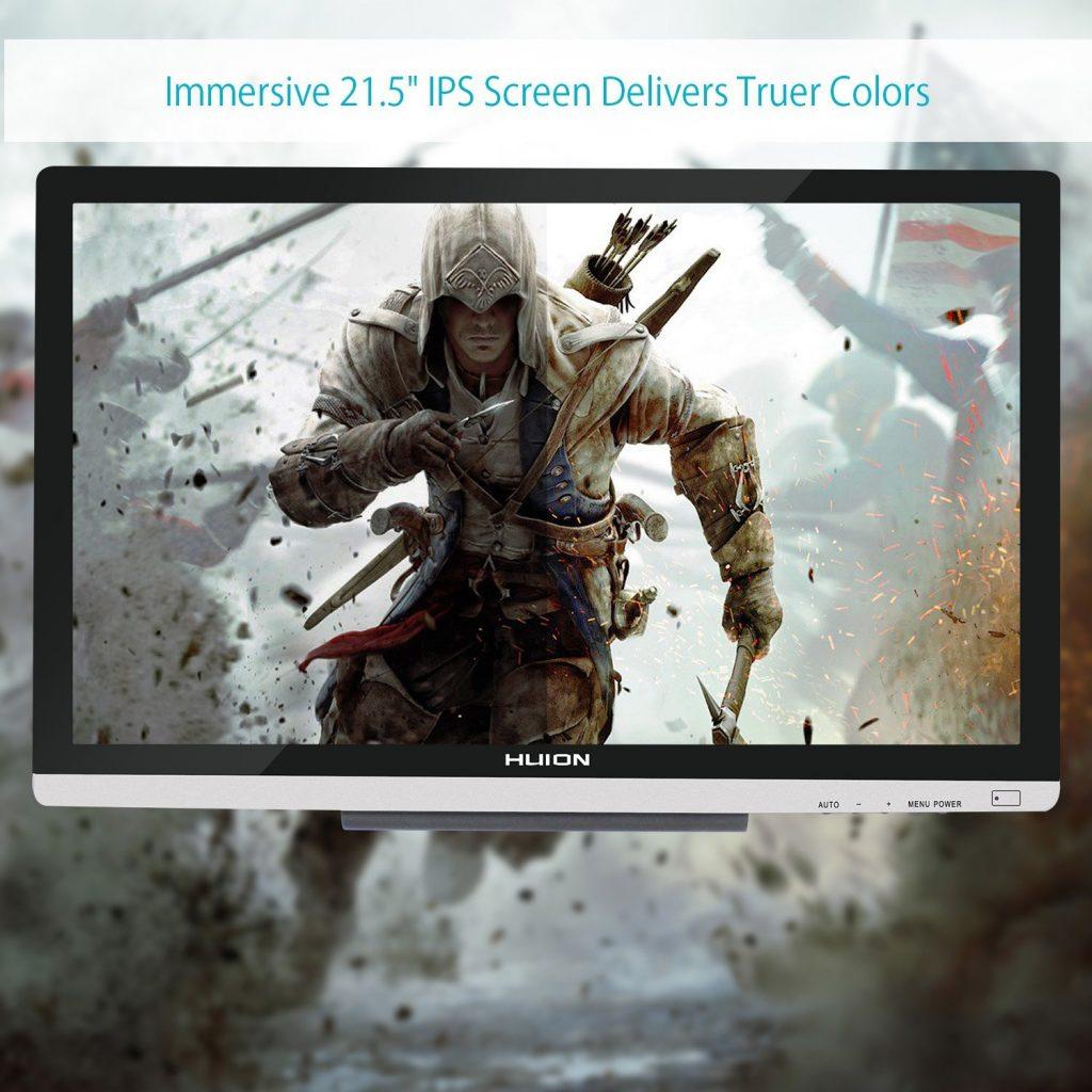 La Huion GT-220 V2 incorpora una excelente pantalla panorámica de 21,5 pulgadas