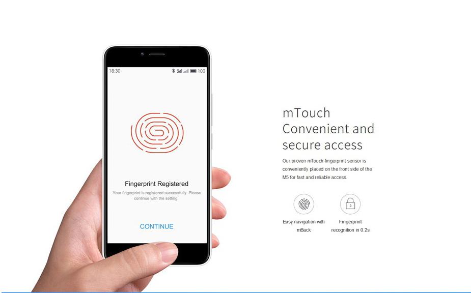 Meizu m5 sensor de huellas