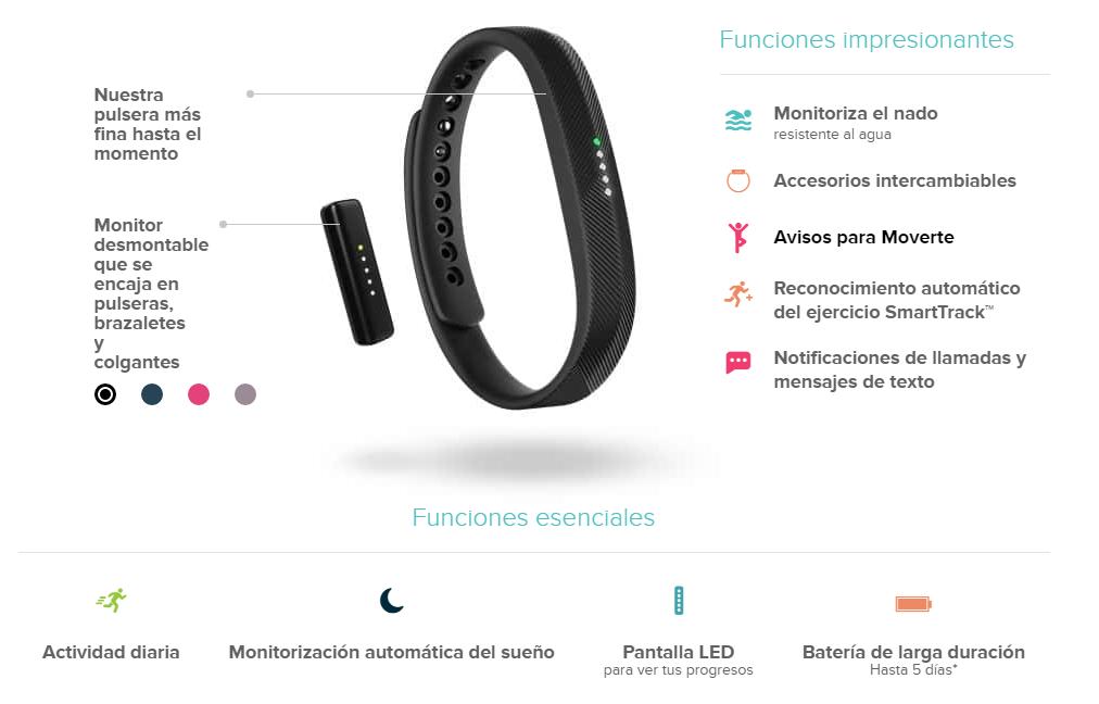 Pulseras Fitbit Flex 2: Funciones