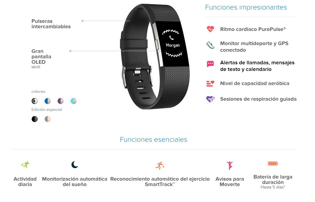 Pulseras Fitbit charge funciones