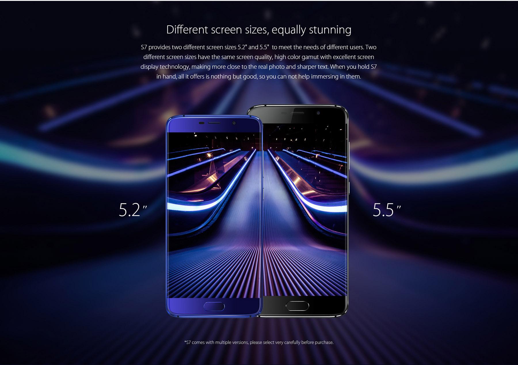 Versiones del Elephone S7 - Smartphone sin marcos, los mejores móviles del momento.