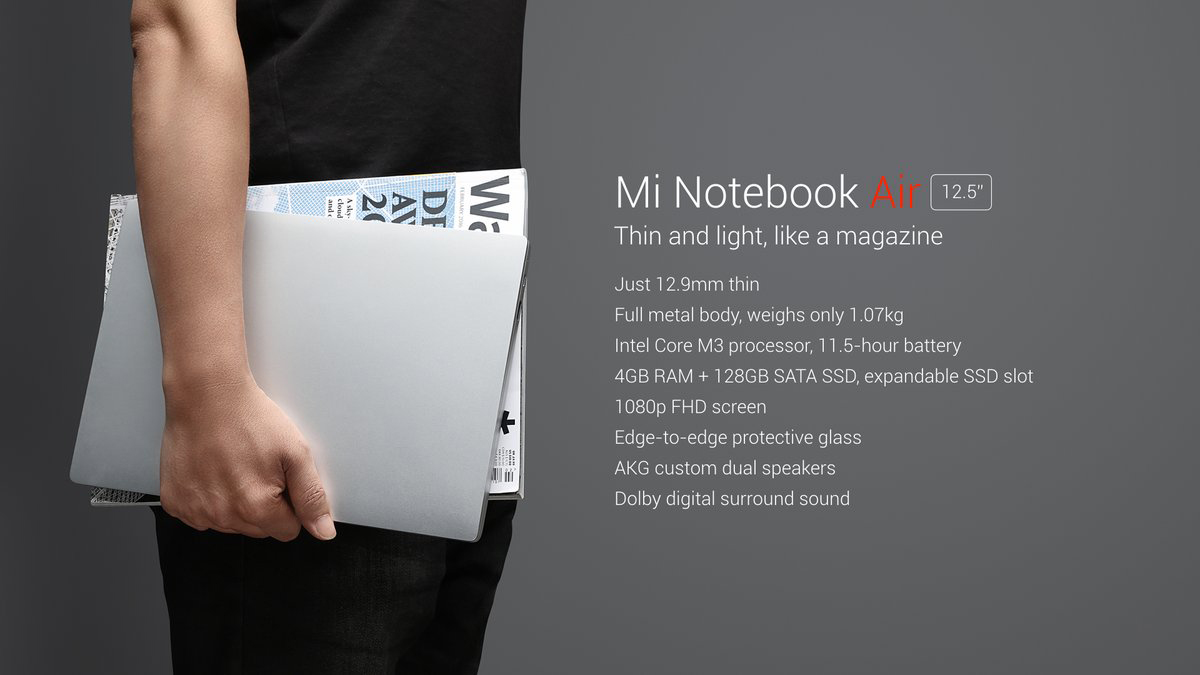 Xiaomi Mi Notebook Air 12 especificaciones