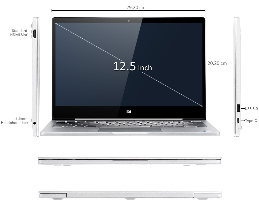 Xiaomi Mi Notebook Air 12 medidas