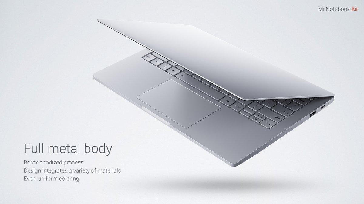 Xiaomi Mi Notebook Air diseño y construcción