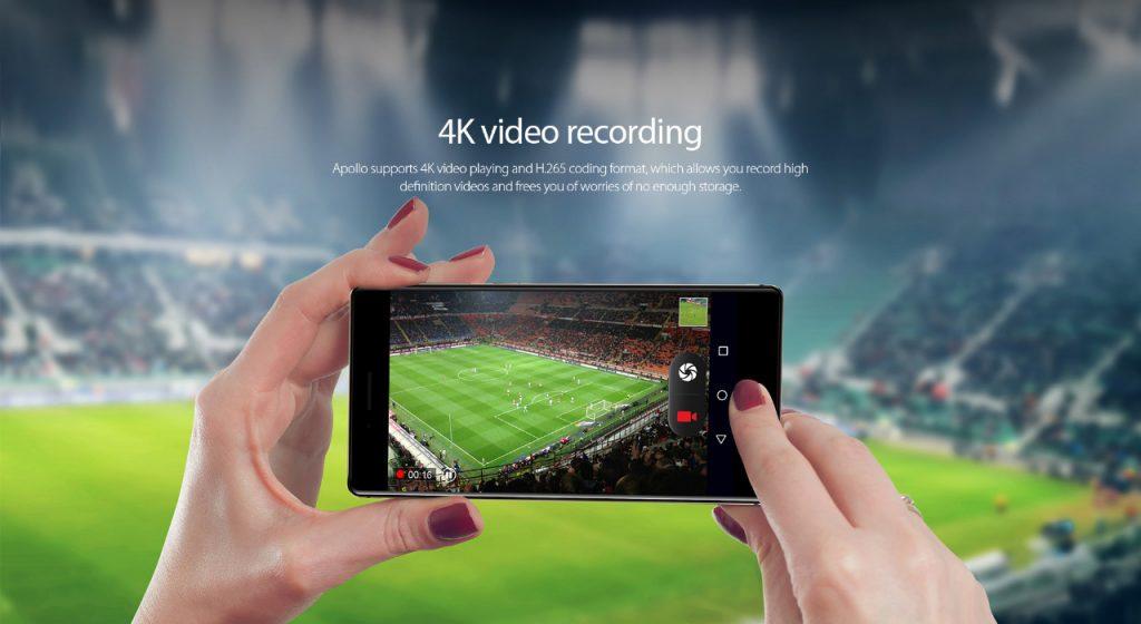 Monta una lente Sony IMX230 de 21 megapíxeles, que permite grabar en 4K HDR