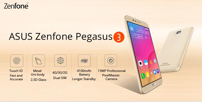 Asus Pegasus Zenfone 3, Especificaciones