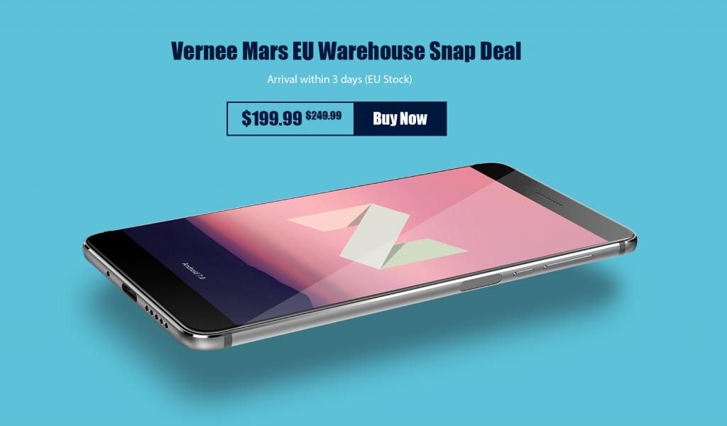 Comprándolo a través de la tienda europea de Vernee tendrás un descuento de 50 $