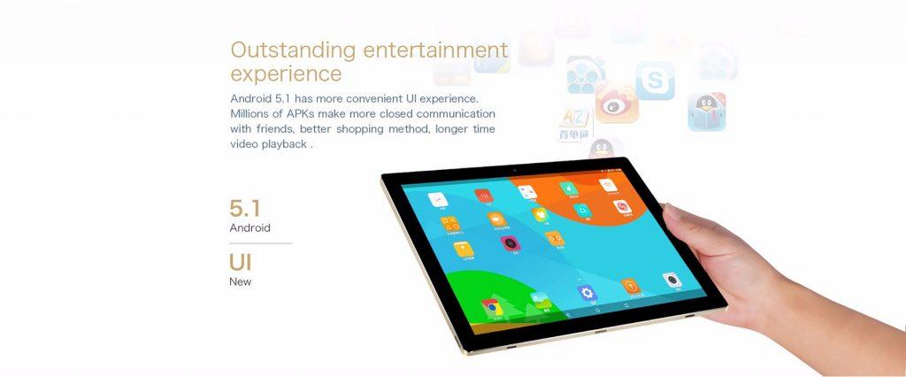 Teclast Tbook 10S, sistema android 5.1