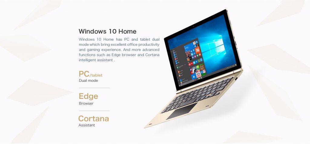 Teclast Tbook 10S, sistema windows 10