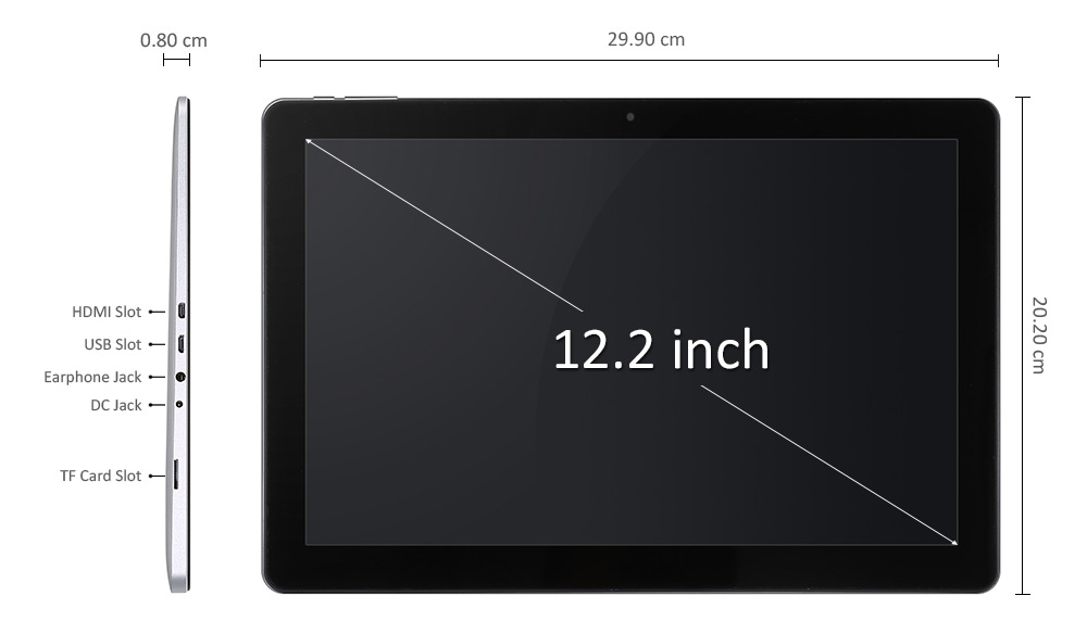 Teclast Tbook 12 Pro medidas