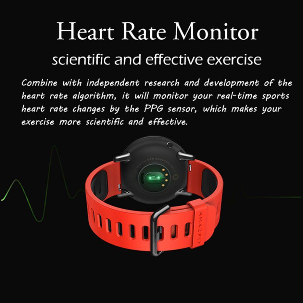 Xiaomi Amazfit sensor cardiaco