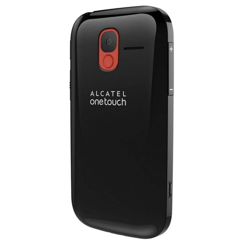 Alcatel 2004C Botón SOS y cámara