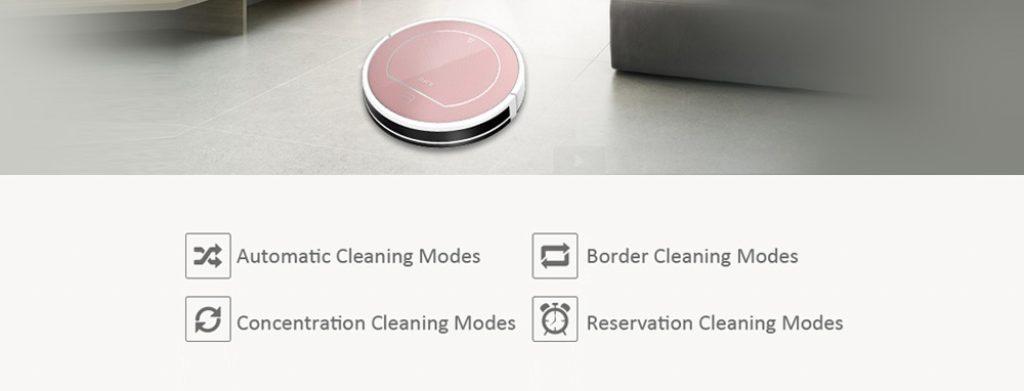 Chuwi iLife V7S Pro, modos de limpieza