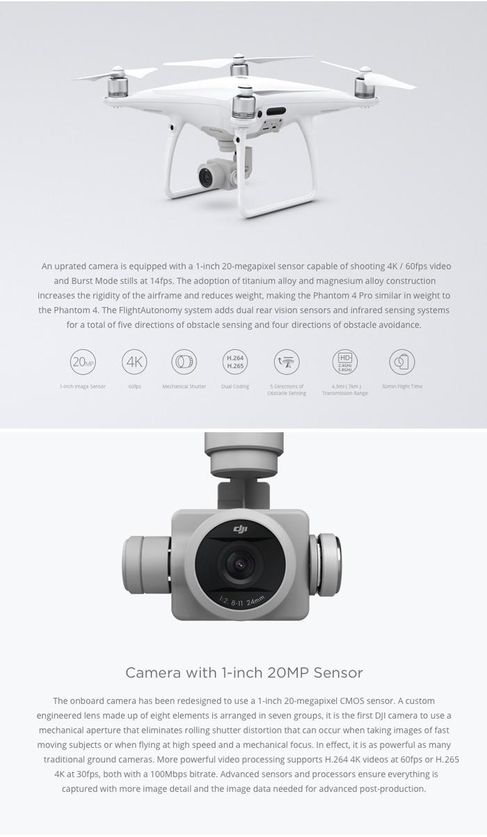 DJI Phantom 4 Pro, sensor