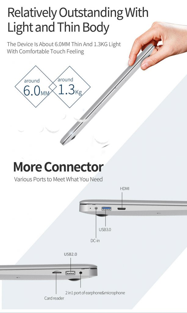 Jumper EZBook 3, conexiones