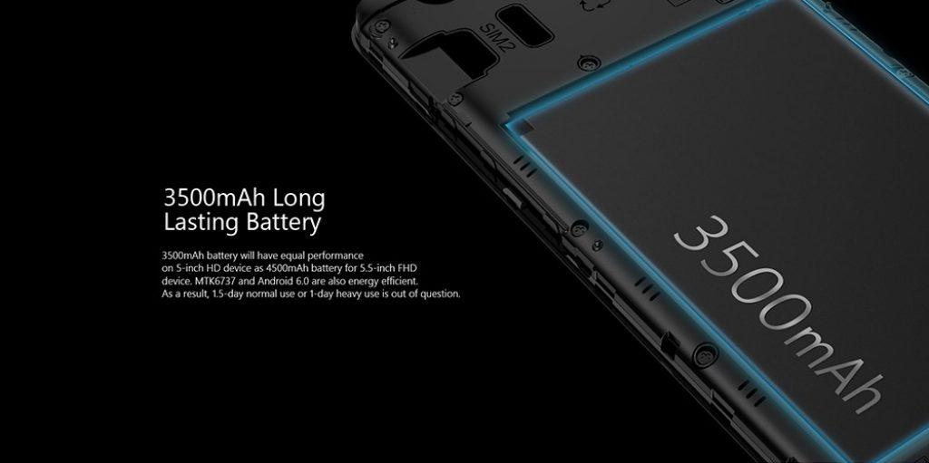 Ulefone U008 Pro, bateria