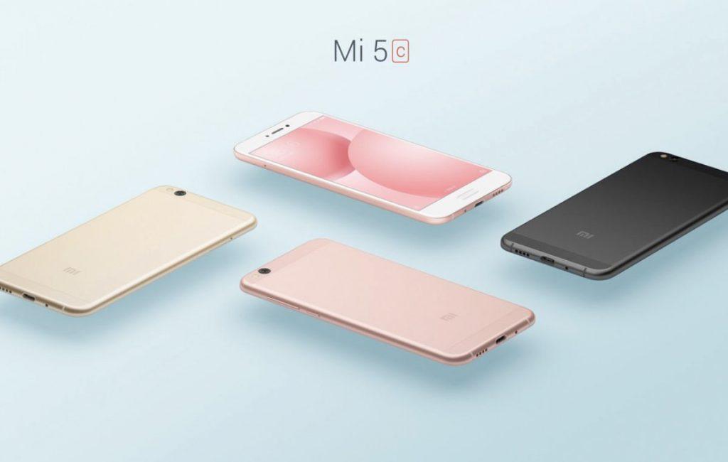 Xiaomi Mi5C, colores