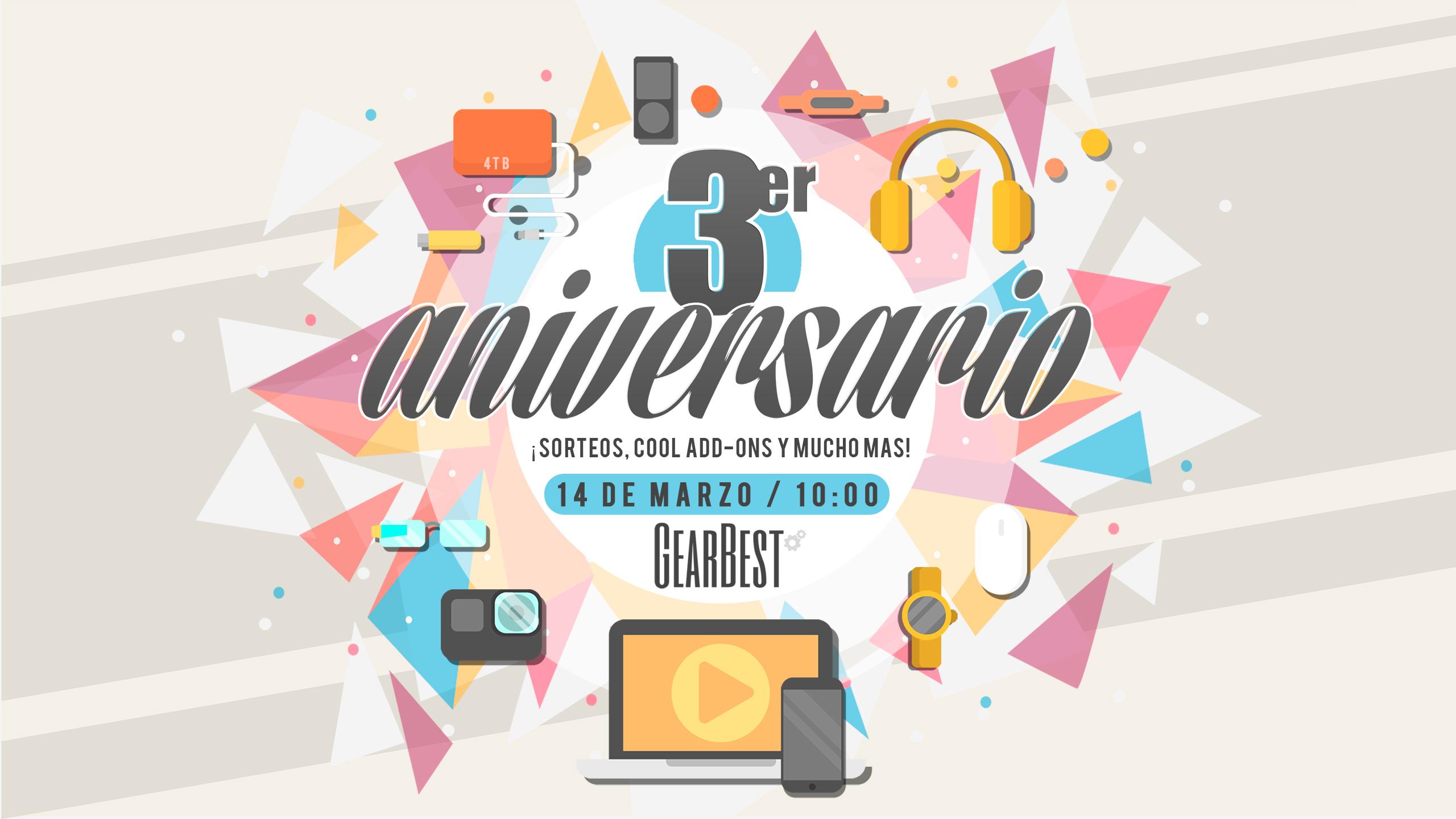 3 Aniversario Gearbest