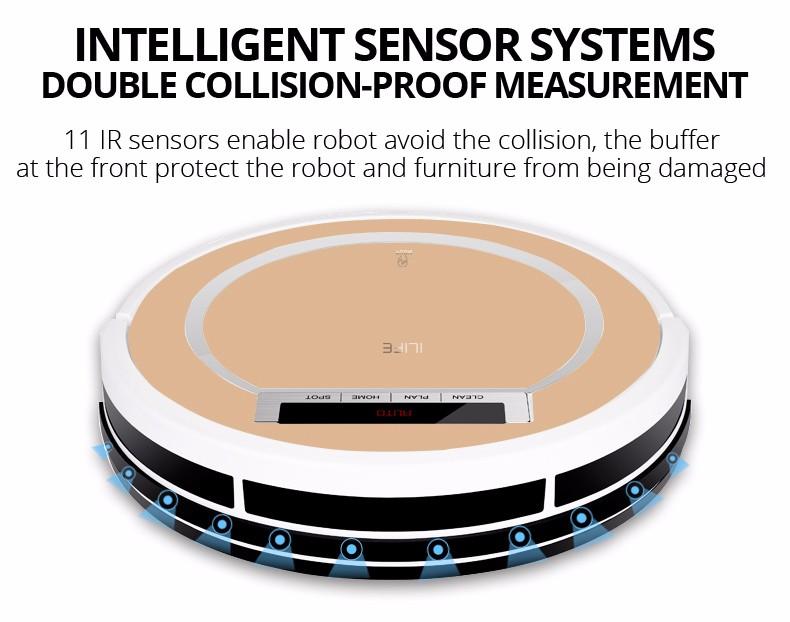 Ilife X5 sensores