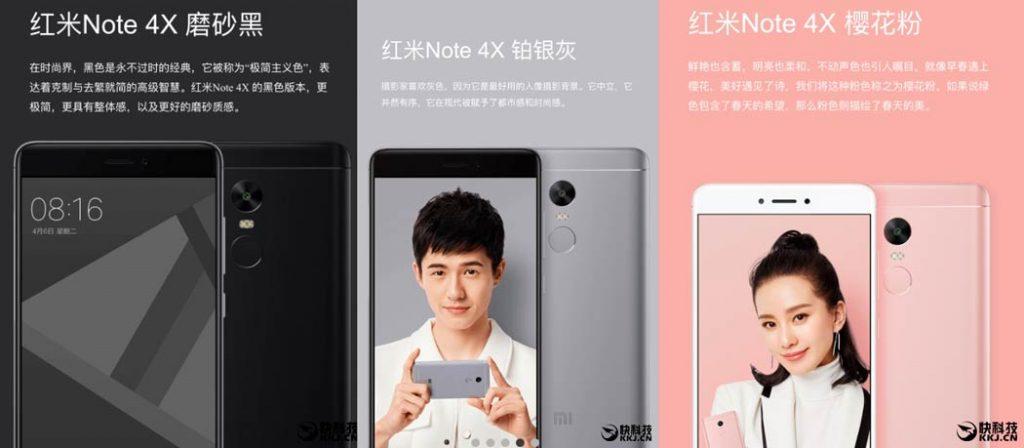 Xiaomi Redmi Note 4X, procesador