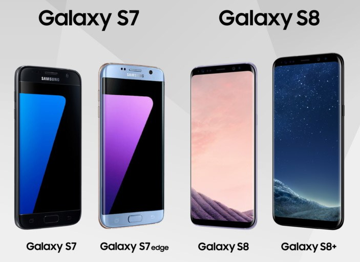 diferencias galaxy s7 galaxy s8