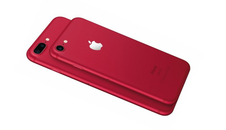 iPhone 7 y iPhone 7 Plus en rojo