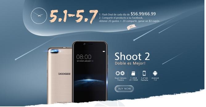 Promoción en España del DOOGEE Shoot 2