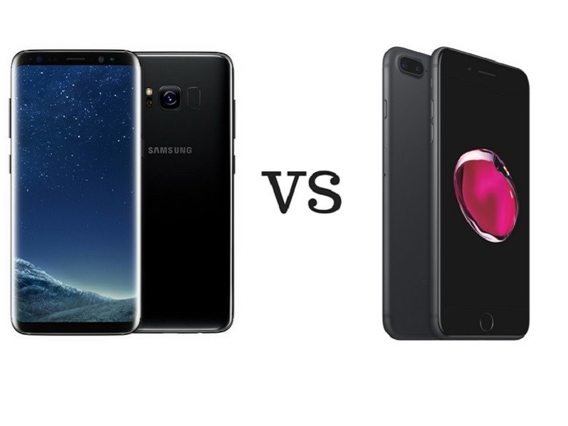 Samsung Galaxy S8 VS iPhone 7 Plus