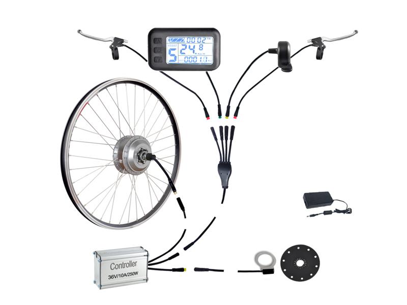 Componentes de un kit bicicleta eléctrica