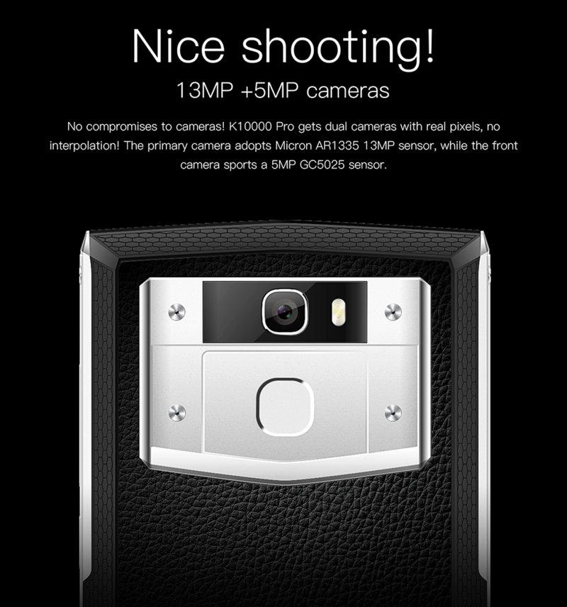Oukitel K10000 Pro, cámara