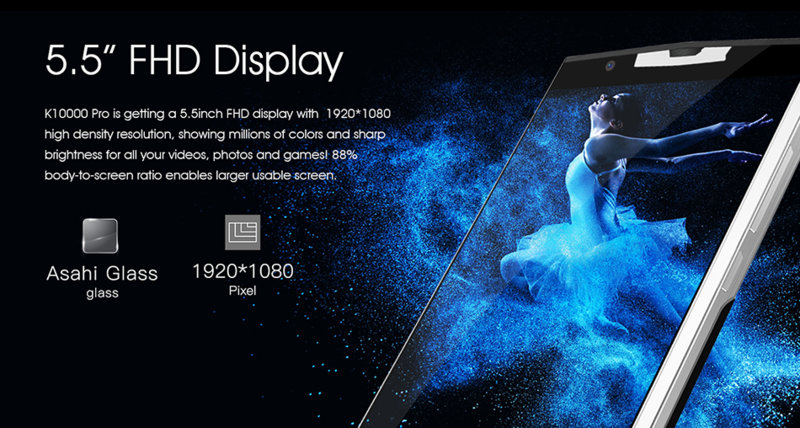 Oukitel K10000 Pro, pantalla
