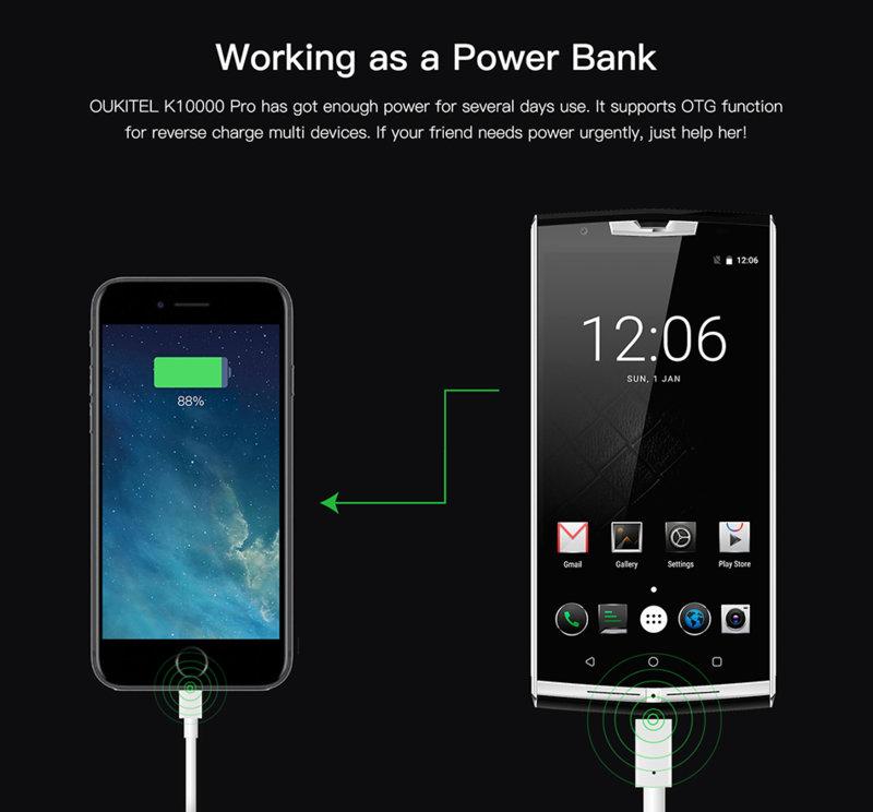 Oukitel K10000 Pro, powerbank