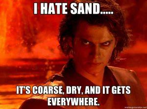 Star Wars - Anakin odia la arena