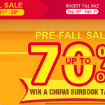 Promo Fall-Sale de Geekbuying