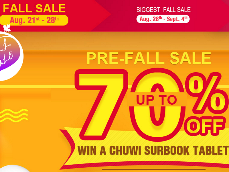 Promo Fall-Sale de Geekbuying