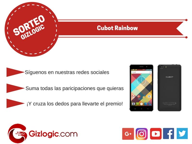 SORTEO Cubot Rainbow