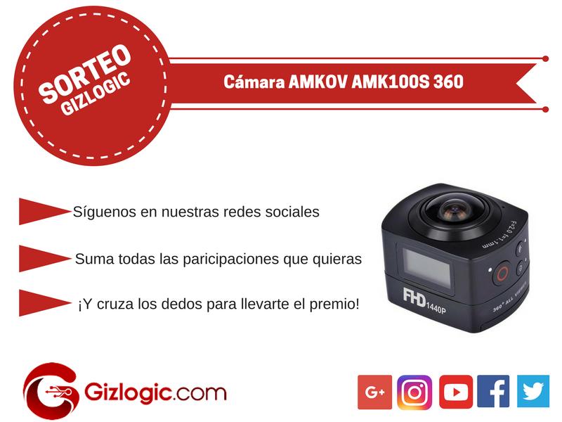 Sorteo Cámara AMKOV AMK100S 360