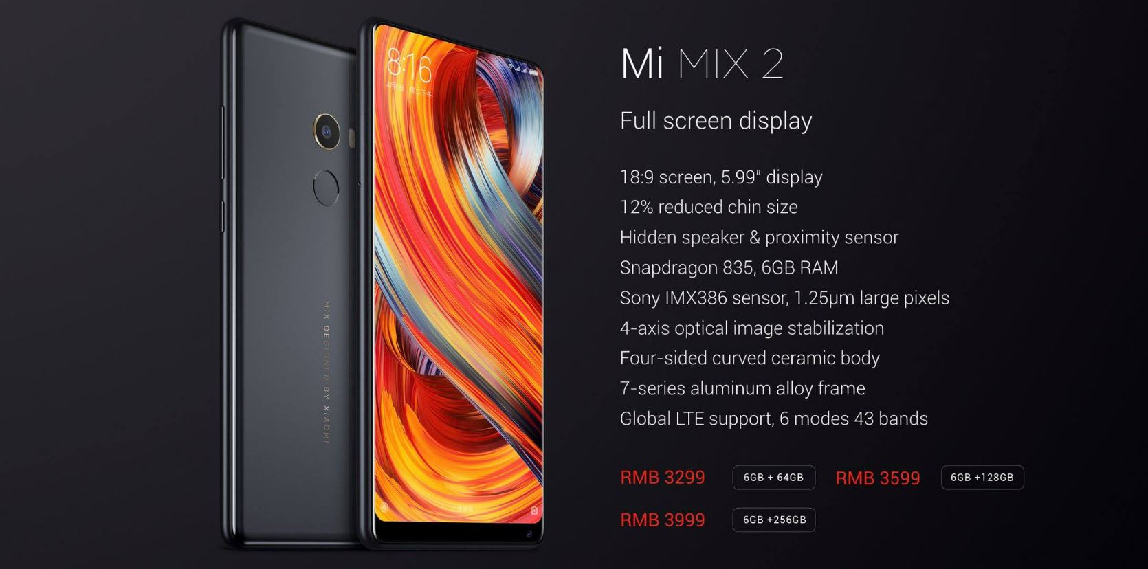 Xiaomi mi mix 2 caracter sticas oficiales y precio gizlogic for 2 costo del garage