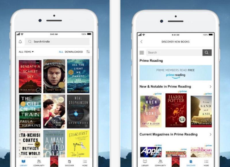 app kindle goodreads ios